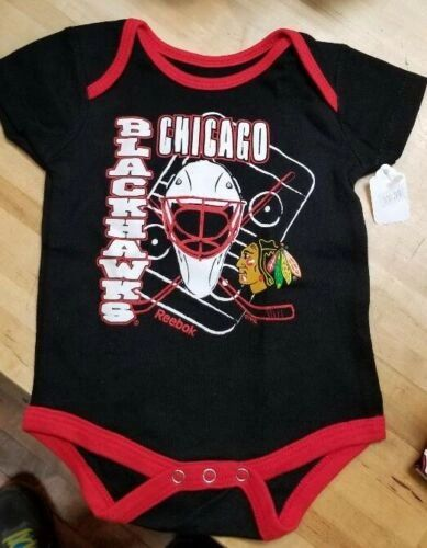 CHICAGO BLACKHAWKS INFANT BABY CREEPER ROMPER COVERALL NHL LICENSED #5