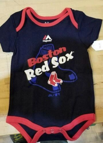BOSTON RED SOX INFANT BABY CREEPER ROMPER COVERALL MLB LICENSED #2