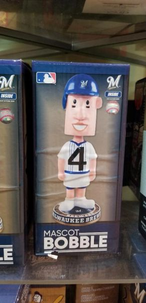 Milwaukee Brewers Mascot Bobblehead Hot Dog