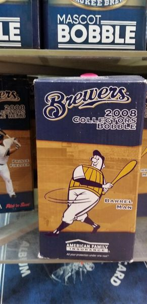 Milwaukee Brewers SGA Barrel Man Bobblehead