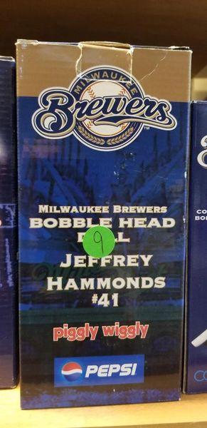 Milwaukee Brewers SGA Bobblehead Jeffrey Hammonds