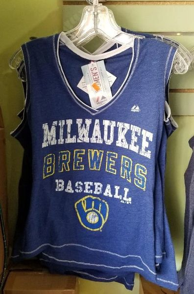 Milwaukee Brewers Ladies Tank Top Retro