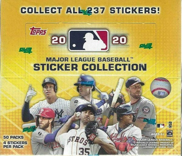 2020 TOPPS MLB Sticker Collection Single Pack