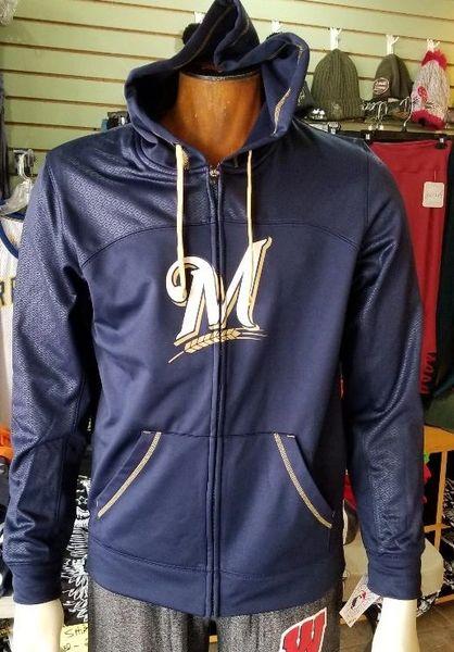 Milwaukee Brewers Full Zip Hoodie Hooded MLB