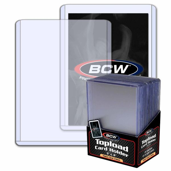 BCW 59PT 59 Point Toploads Toploaders 25 per pack sealed