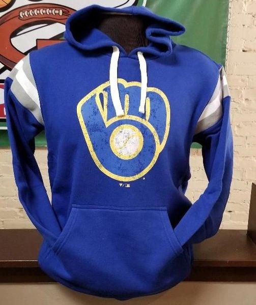 Milwaukee Brewers Fanatics Brand Retro Throwback Vintage Hoodies Hooded
