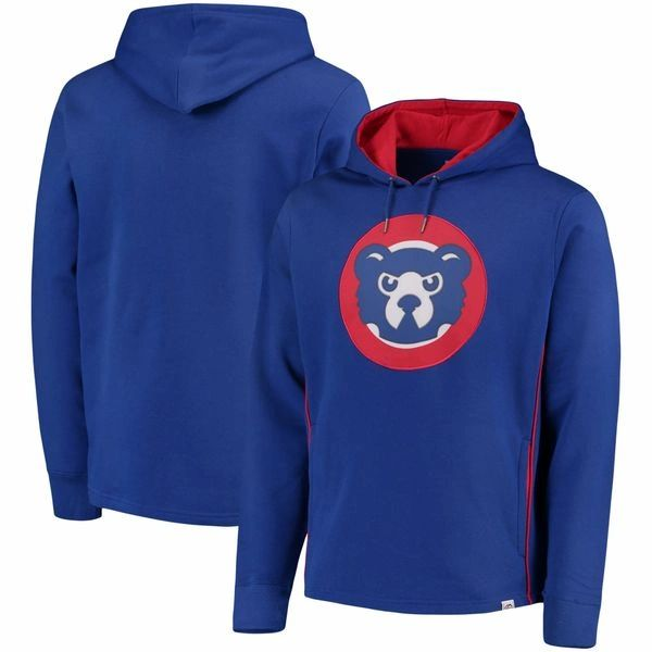 Majestic Royal Chicago Cubs Cooperstown Left/Righty Pullover Hoodie