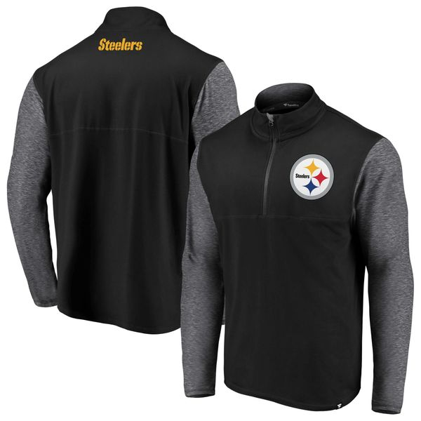 Pittsburgh Steelers NFL Pro Line by Fanatics Branded Black Made to Move Quarter-Zip Jacket