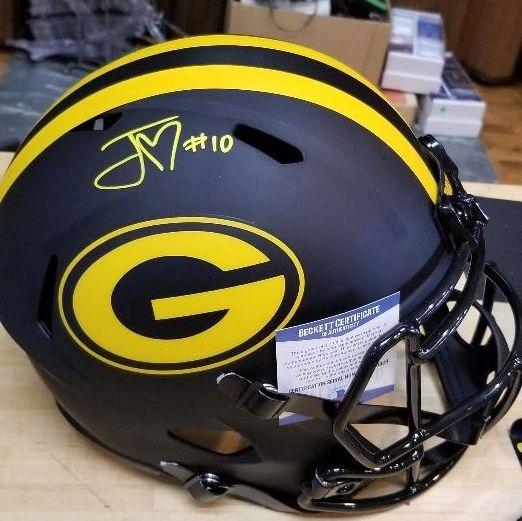 Green Bay Packers Jordan Love Autographed Full Size Eclipse Helmet