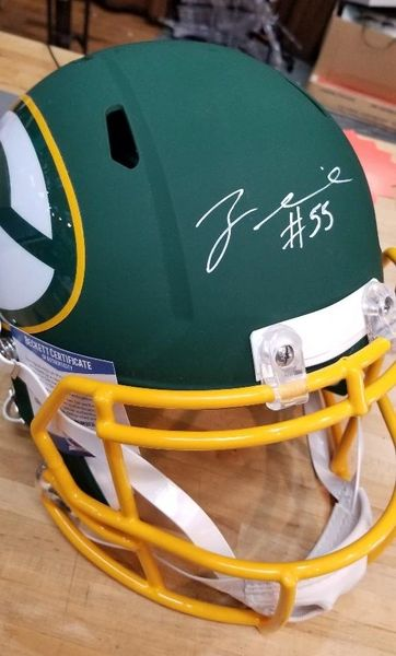 Green Bay Packers Za Darius Smith Autographed Full Size Amp Helmet