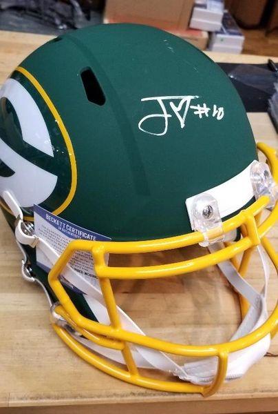Green Bay Packers Jordan Love Autographed Full Size AMP Helmet