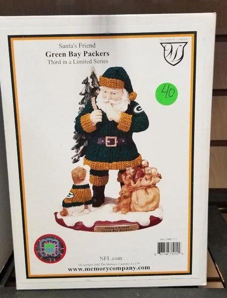 Green Bay Packers Santa's Friend Memory Company w/Box