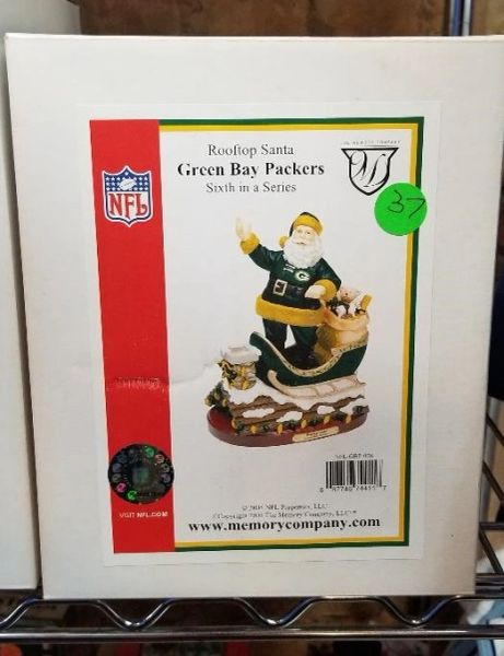 Green Bay Packers Rooftop Santa Memory Company w/Box