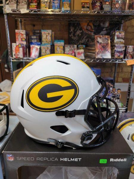 """Green Bay Packers Riddell Alternate """"Lunar"""" Speed Full Size Replica Helmet"""