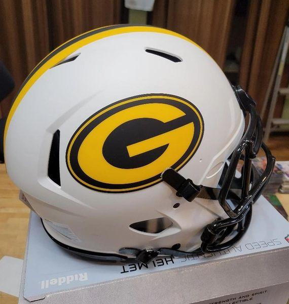 """Green Bay Packers Riddell Alternate """"Lunar"""" Speed Full Size Authentic Helmet"""