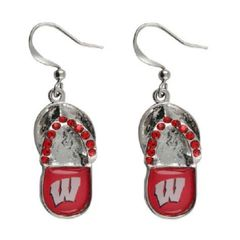 Wisconsin Badgers Flip Flop Earrings NCAA