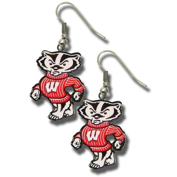 Wisconsin Badgers Bucky Dangle Earrings NCAA