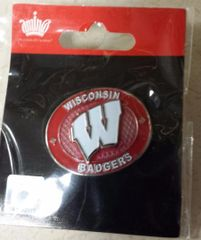 WISCONSIN BADGERS OVAL LOGO LAPEL PIN