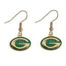 Green Bay Packers G Logo Glitter Dangle Earrings NFL