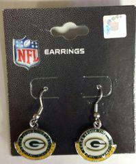 Green Bay Packers Green/Gold Half Moon Dangle Earrings