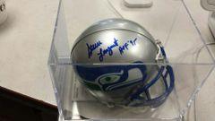 Steve Largent Seattle Seahawks Autographed Mini Helmet HOF JSA