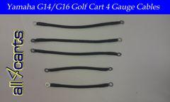 Yamaha G14/G16 36 Volt Battery Cable Set | 4 Gauge Upgrade