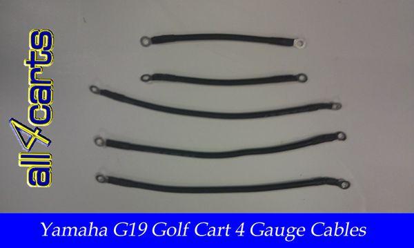 Yamaha G14/G16 48 Volt Battery Cable Set | 4 Gauge Upgrade