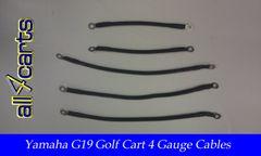 Yamaha G19 36 Volt Battery Cable Set | 4 Gauge Upgrade