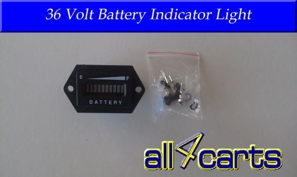Golf Cart Battery Meter 36 Volt Battery indicator light