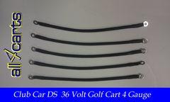 Club Car DS 36 Volt Battery Cable Set | 4 Gauge Upgrade
