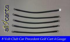 Club Car Precedent 8 Volt Battery Cable Set | 4 Gauge Upgrade