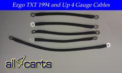 Ezgo Txt 36 Volt Battery Cable Set | 4 Gauge Upgrade