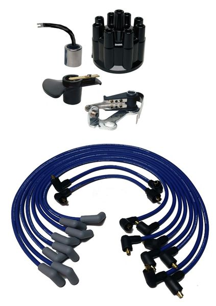 V8 Prestolite Snap Down Tune Up Kit w/ Wires