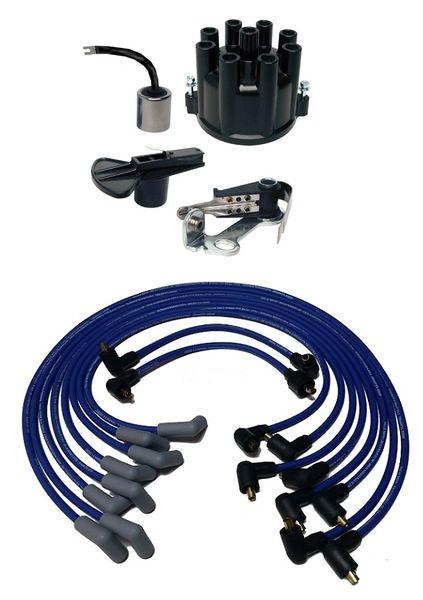 V8 Prestolite Screw Down Tune Up Kit w/ Wires