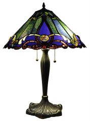 GREEN VICTORIAN 18 Inch 2-Light Tiffany Style Victorian Table Lamp, CH1B518BV18-TL2