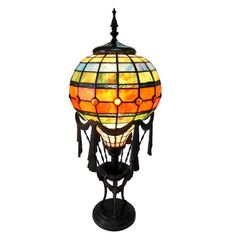 ROZIER 11 Inch 1-Light Tiffany Style Decorator Table Lamp, CH15692GM11-TL1