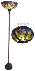LIAISON 15 Inch 1-Light Tiffany Style Victorian Torchiere Floor Lamp, CH18780VT15-TF1