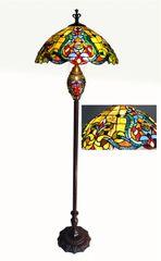 VICTORIAN 19 Inch 3-Light Tiffany Style Victorian Double Lit Floor Lamp, CH1B896AV19-DF3