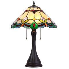 JORGIE 16 inch 2 Light Tiffany Style Table Lamp, CH35654AF16-TL2