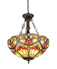 BYRON 18 Inch 2-Light Tiffany Style Inverted Victorian Ceiling Pendant, CH33352VR18-UH2