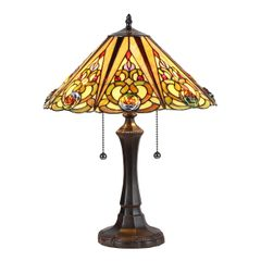 KASLER Victorian 16 Inch Tiffany-Style Table Lamp, CH35499AV16-TL2