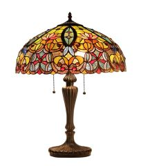 LIBBY 18 Inch 2-Light Tiffany Style Victorian Table Lamp, CH33456GV18-TL2