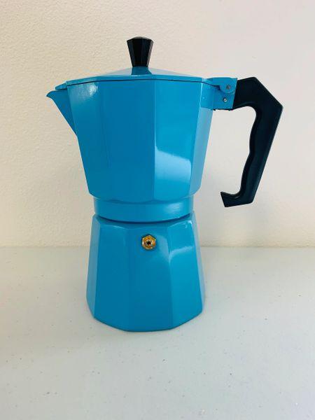 Moka Pot - 6 Espresso Cup BLUE