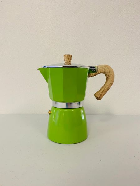 Moka Pot - 6 Espresso Cup Green