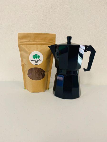 Moka Pot + Coffee Combo