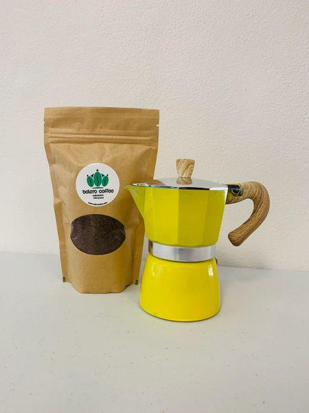 Moka Pot + 200g Coffee Combo