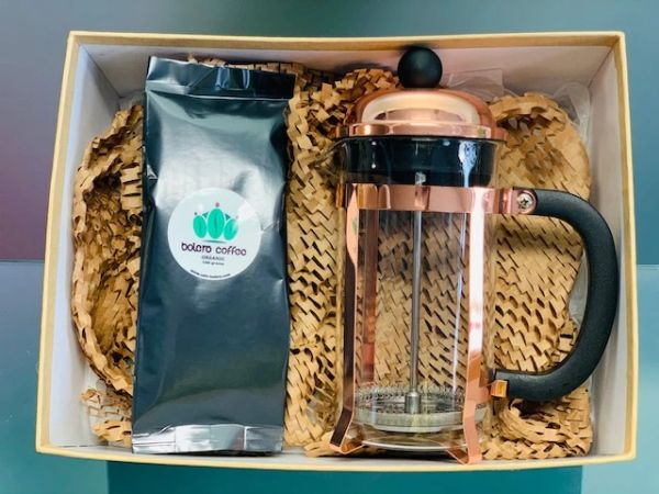 600ml cup French Press & 100g coffee gift combo