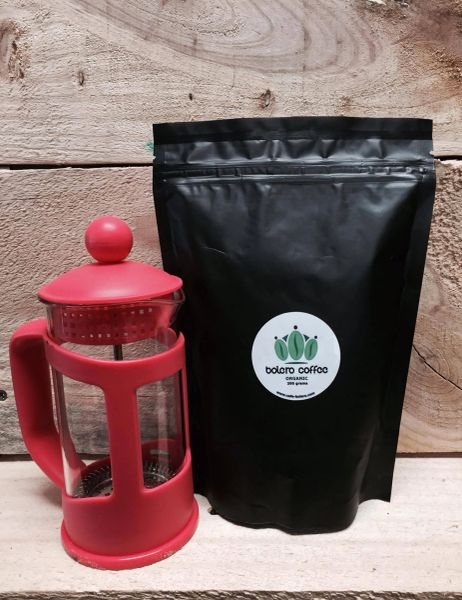 3 Cup Plunger + 500g Organic Coffee Combo