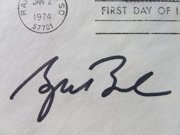 President George W Bush Signed First Day Issue Of 1974