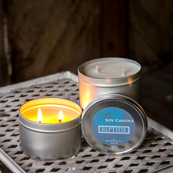 Riptide 12oz Tin Soy Candle